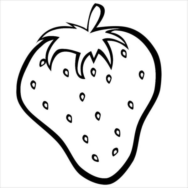 Tranh vẽ chưa tô màu trái cây đẹp cho bé tập tô (9)
