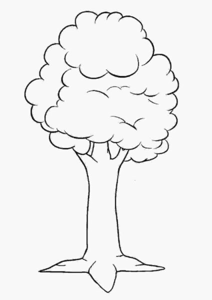 Tranh vẽ đen trắng cây xanh cho bé tô màu (8)