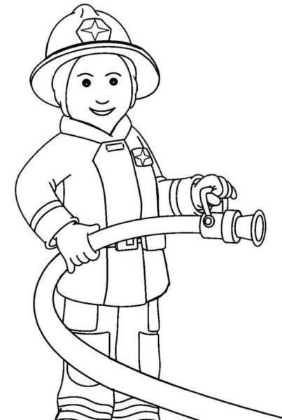 Tranh vẽ đen trắng chủ đề nghề nghiệp cho bé tập tô (4)