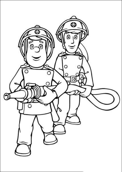 Tranh vẽ đen trắng chủ đề nghề nghiệp cho bé tập tô (5)