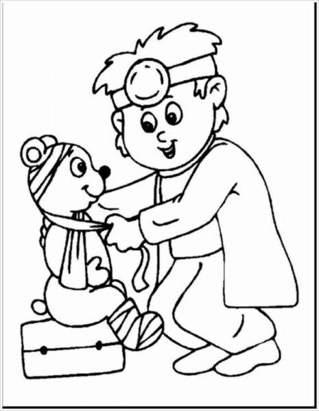Tranh vẽ đen trắng chủ đề nghề nghiệp cho bé tập tô (6)