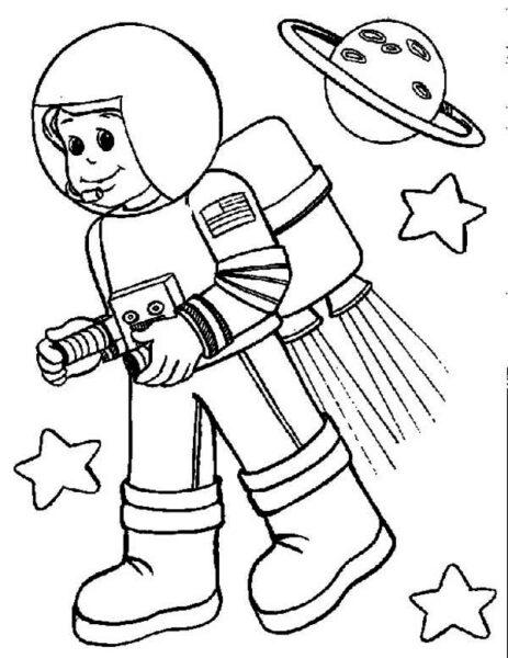 Tranh vẽ đen trắng chủ đề nghề nghiệp cho bé tập tô (8)