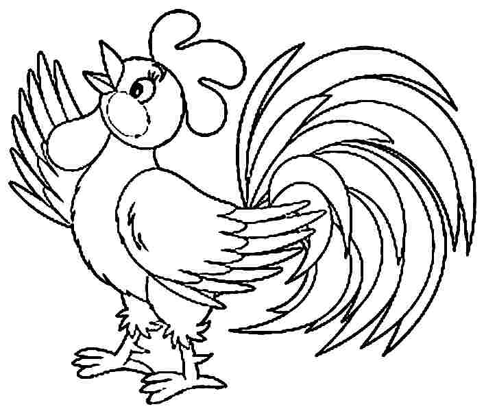 5 best images of free printable rooster coloring pages printable