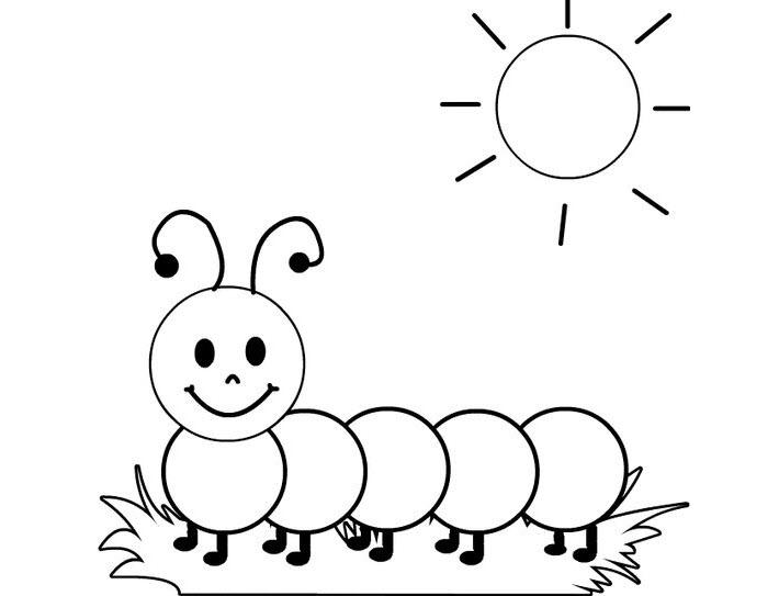 Tranh vẽ đen trắng ông mặt trời ngộ nghĩnh cho bé tô màu (1)