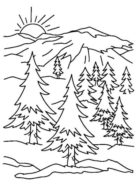 Tranh vẽ đen trắng ông mặt trời ngộ nghĩnh cho bé tô màu (4)