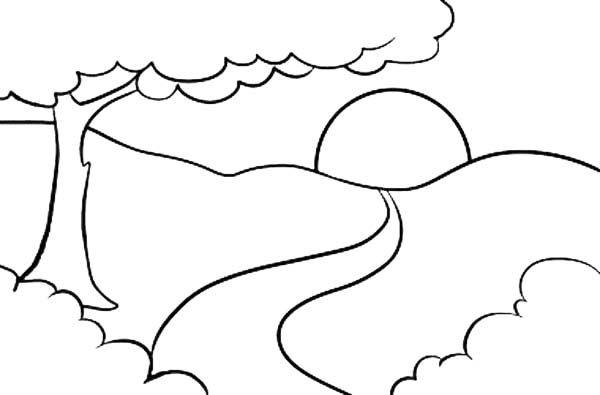 Tranh vẽ đen trắng ông mặt trời ngộ nghĩnh cho bé tô màu (5)