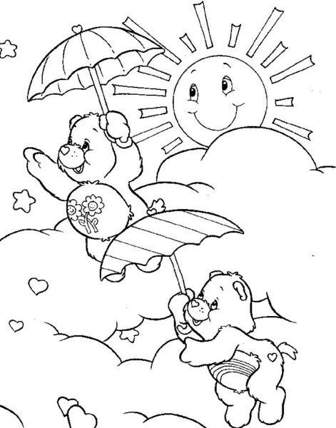 Tranh vẽ đen trắng ông mặt trời ngộ nghĩnh cho bé tô màu (7)