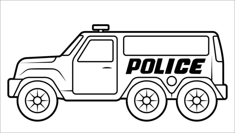 Tranh vẽ đen trắng phương tiện giao thông cho bé tô màu (3)