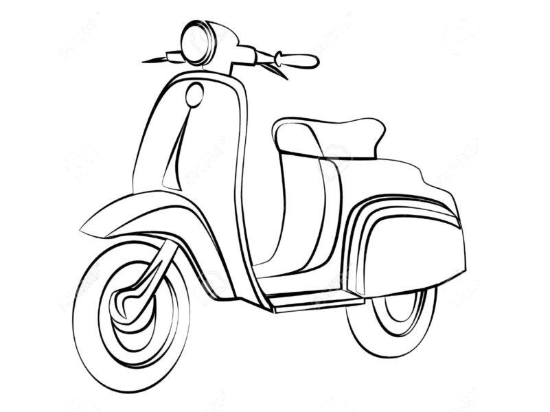 Tranh vẽ đen trắng phương tiện giao thông cho bé tô màu (6)