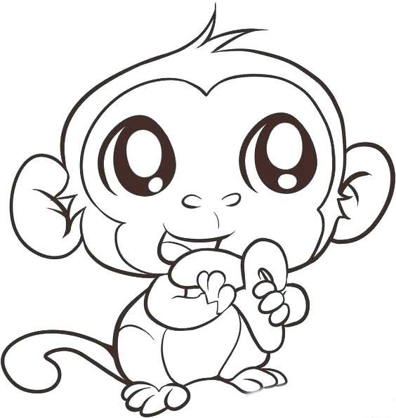 Vẽ con khỉ đẹp
