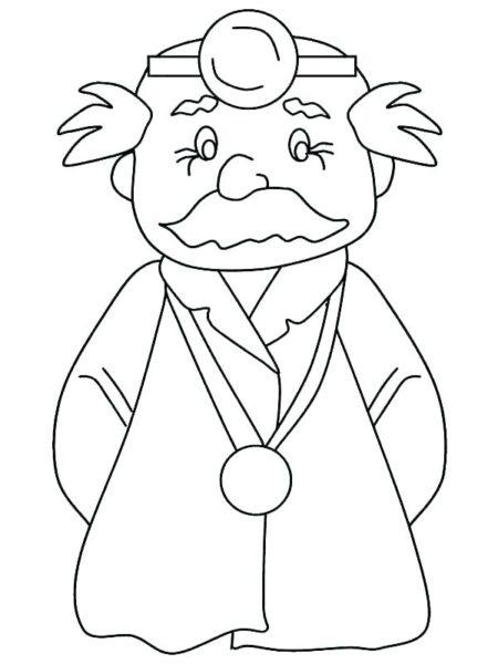 Ảnh vẽ bác sĩ cho bé tập tô (6)