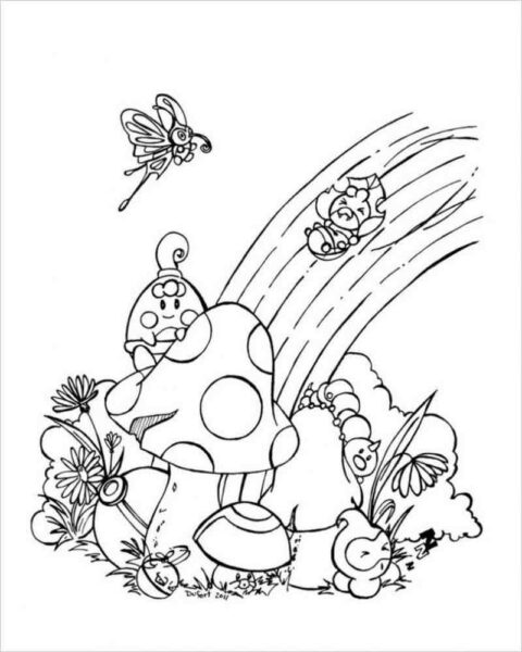 Ảnh vẽ cầu vồng đẹp cho bé tập tô (3)