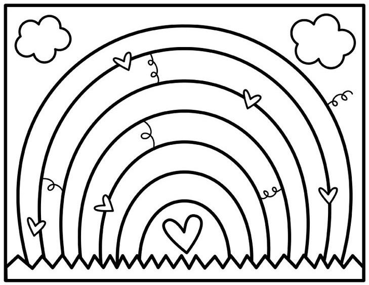 Ảnh vẽ cầu vồng đẹp cho bé tập tô (6)