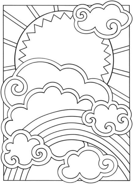 Ảnh vẽ cầu vồng đẹp cho bé tập tô (8)
