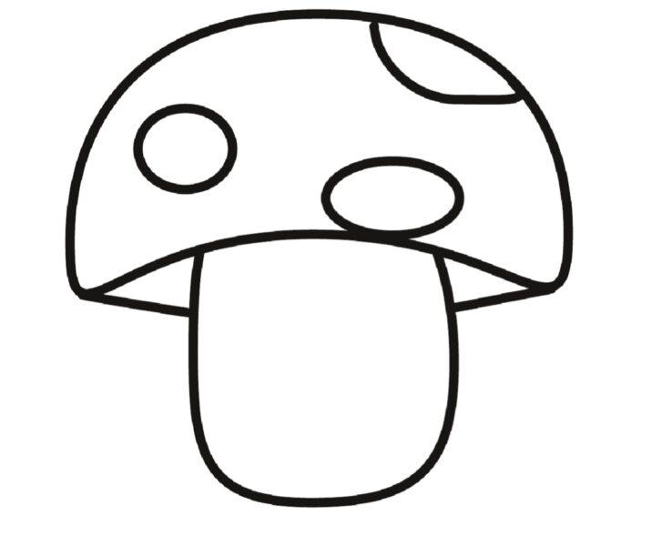 Ảnh vẽ cây nấm đẹp cho bé tập tô (4)