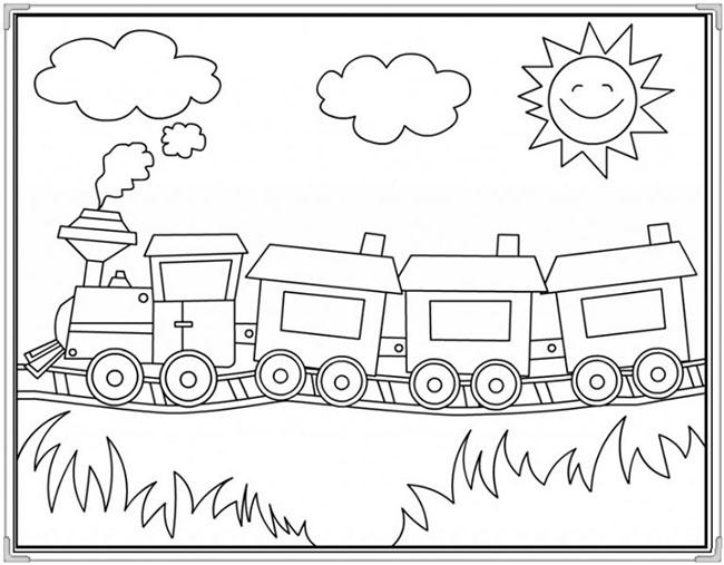 Ảnh vẽ chưa tô màu cho bé 10 tuổi tập tô (2)
