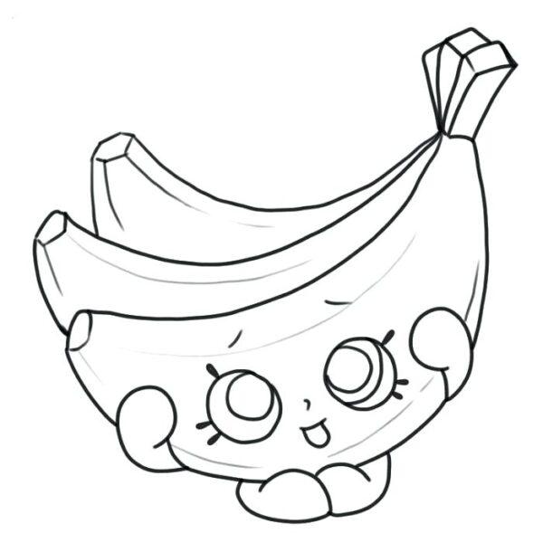Ảnh vẽ quả chuối cho bé tô màu (5)