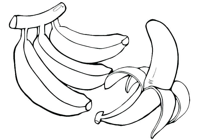Ảnh vẽ quả chuối cho bé tô màu (7)