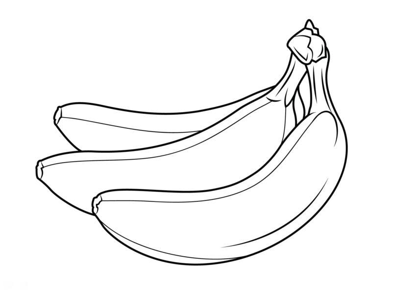 Ảnh vẽ quả chuối cho bé tô màu (8)