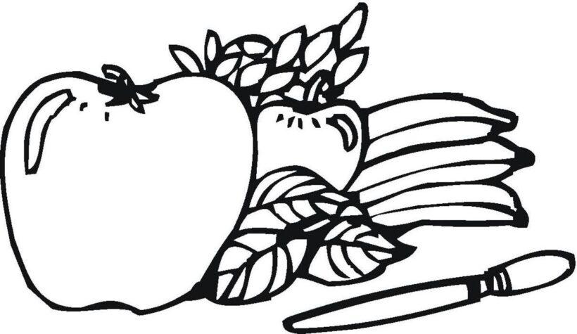 Ảnh vẽ quả táo cho bé tập tô (1)