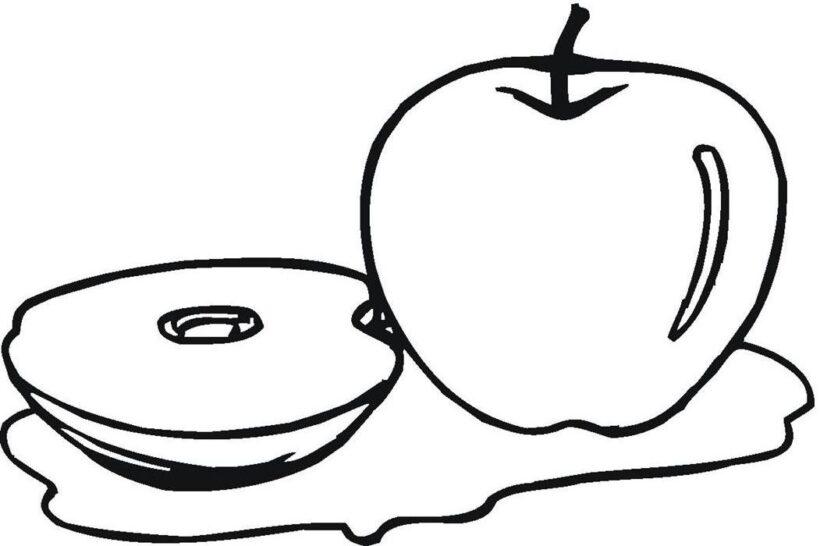 Ảnh vẽ quả táo cho bé tập tô (5)