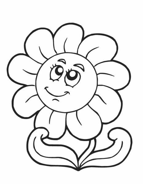 Cách tô màu hoa hướng dương