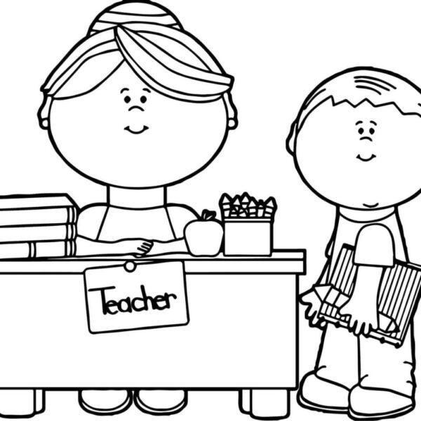 Cách vẽ cô giáo và học sinh đơn giản