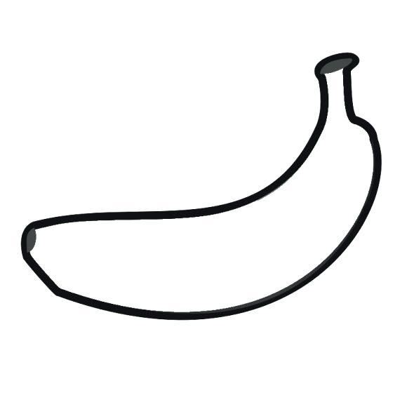 Cách vẽ quả chuối đơn giản