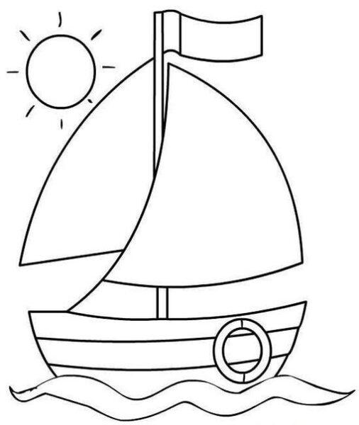 Giáo án tô màu thuyền buồm
