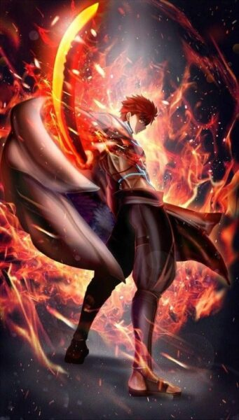 hình ảnh anime ngầu nam rực lửa