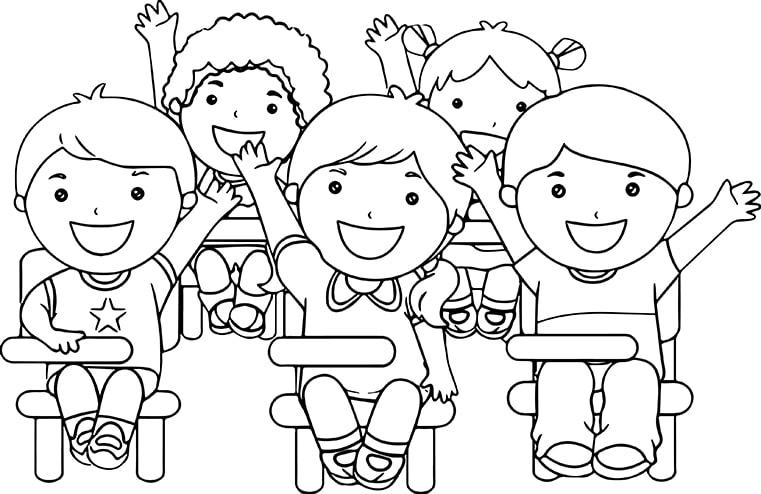 Hình tập tô cô giáo và học sinh cho bé tô màu (5)