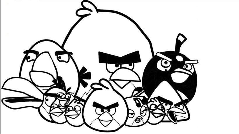 Hình tô màu Angry Birds cho bé tập tô (2)