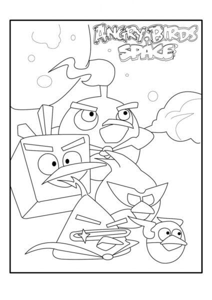 Hình tô màu Angry Birds cho bé tập tô (3)