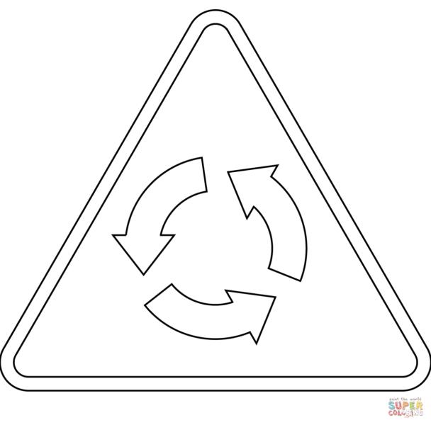 Hình tô màu biển báo giao thông cho bé tập tô (5)