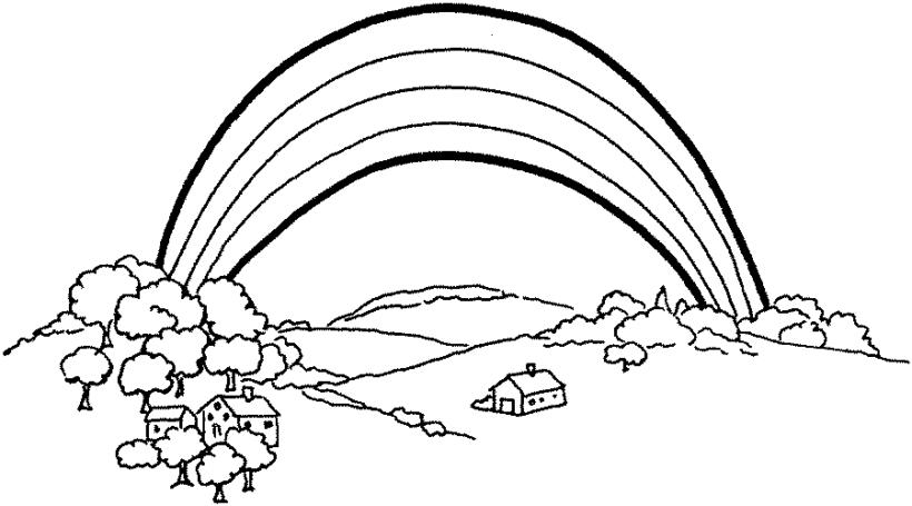 Hình tô màu cầu vồng đẹp cho bé tập tô (1)