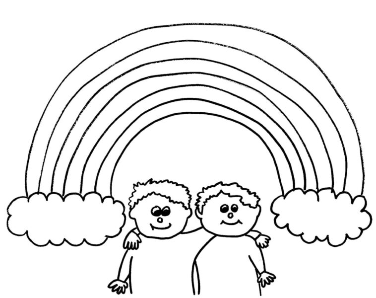 Hình tô màu cầu vồng đẹp cho bé tập tô (2)