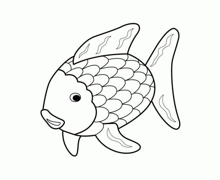 Hình tô màu chú cá vàng đẹp nhất cho bé tập tô (4)