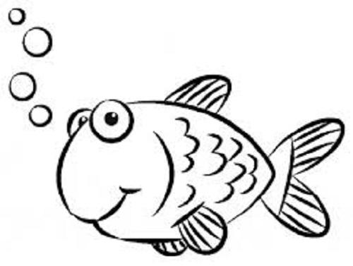 Hình tô màu chú cá vàng đẹp nhất cho bé tập tô (6)