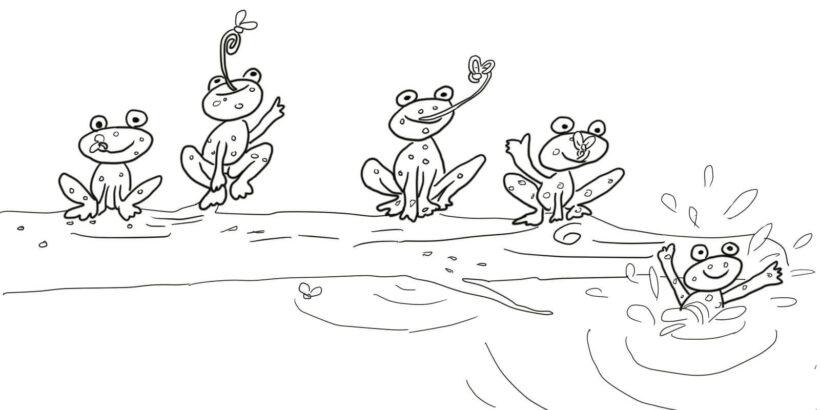 Hình tô màu con ếch cho bé tập tô (1)