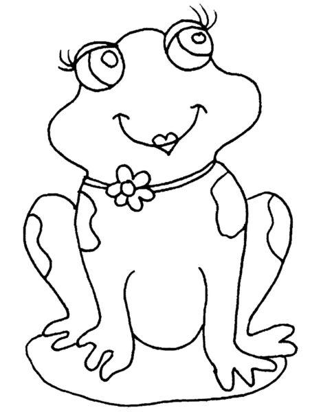 Hình tô màu con ếch cho bé tập tô (6)