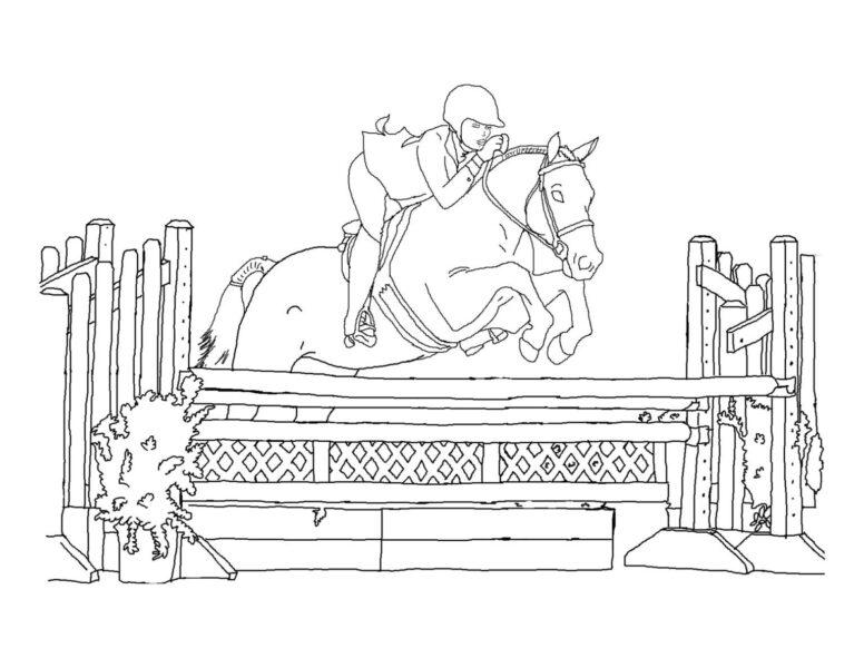 Tổng hợp các bức tranh tô màu con ngựa dễ thương