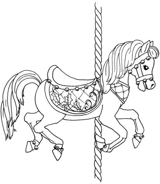 Hình tô màu con ngựa đẹp nhất cho bé tập tô (2)