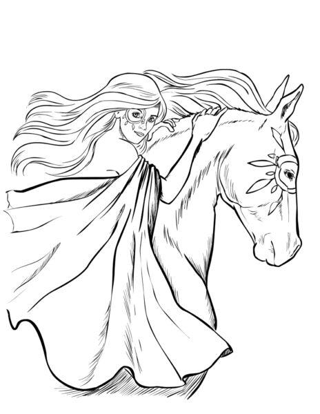 Hình tô màu con ngựa đẹp nhất cho bé tập tô (3)