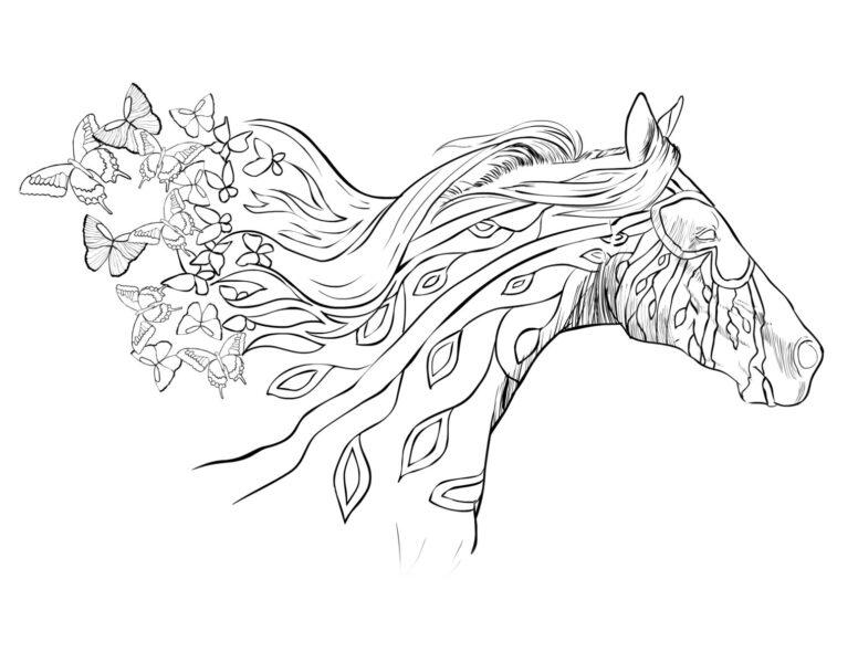 Hình tô màu con ngựa đẹp nhất cho bé tập tô (4)
