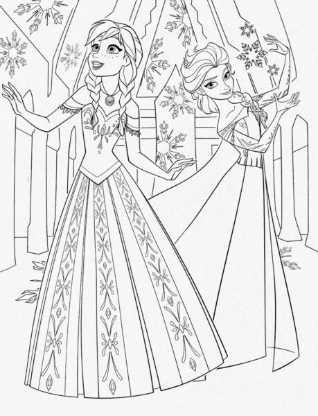 Anna And Elsa Coloring Pages Disney Princess Coloring Pages Frozen Anna