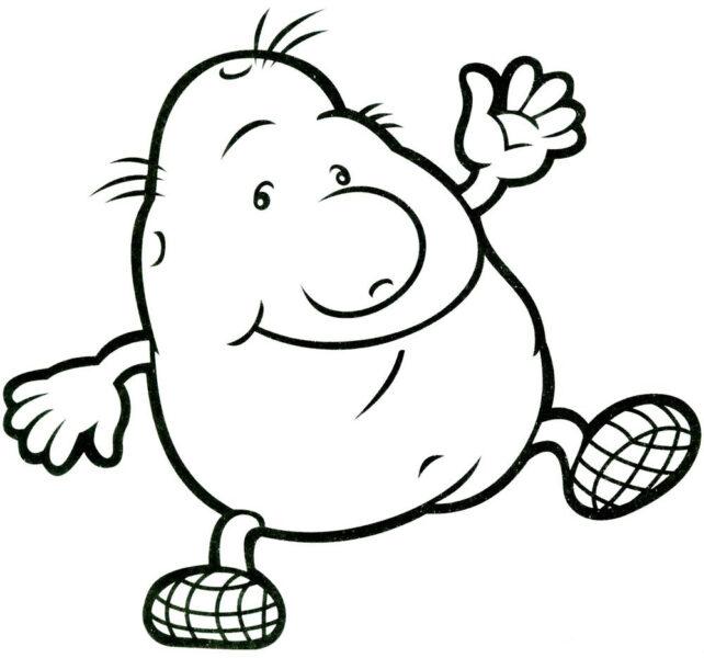 Hình tô màu củ khoai lang cho bé tập tô (3)