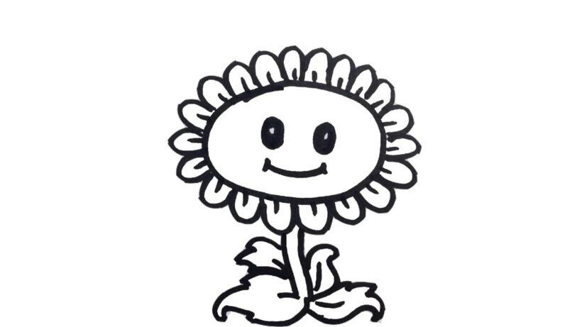 Hình tô màu hoa hướng dương (7)