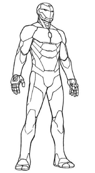 Hình tô màu Iron Man đẹp nhất cho bé tập tô (1)