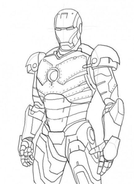 Hình tô màu Iron Man đẹp nhất cho bé tập tô (4)