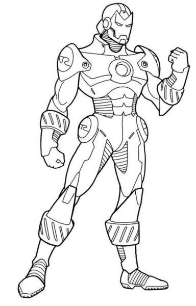 Hình tô màu Iron Man đẹp nhất cho bé tập tô (5)